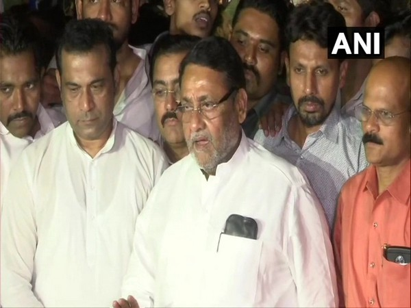Nationalist Congress Party chief spokesperson Nawab Malik speaking to media on Tuesday. (Photo/ANI)