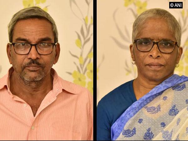 Kiran (left) and his wife Narmada, the two senior Maoists arrested by Gadchiroli police. Photo/ANI