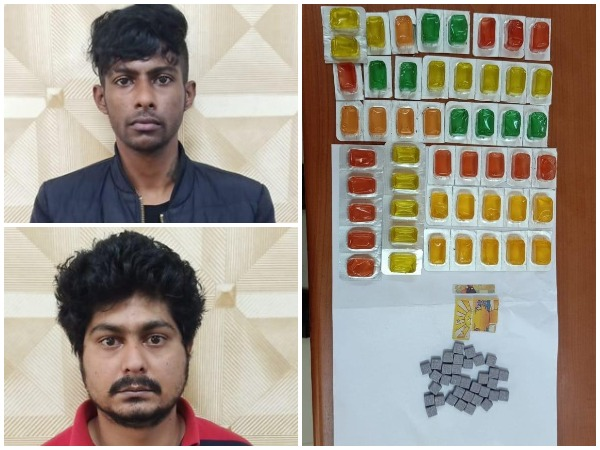 Two drug peddlers that were arrested by the Central Crime Branch (CCB) in Bengaluru on Friday.