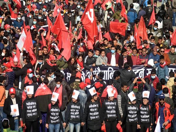 Rival Nepal Communist Party faction hit street of Kathmandu in show of powe,