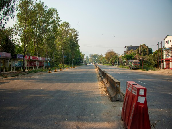 A deserted street in Bharatpur, Nepal amid nation-wide lockdown due to COVID-19