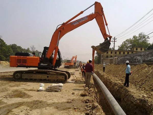 Construction underway of South Asia's first cross border petroleum pipeline linking Motihari in India and Amlekhgunj in Nepal