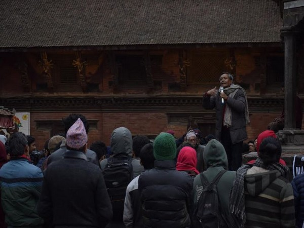 Students gather at Patan Durbar Square every evening to protest against govenment levying additional taxes on imported books