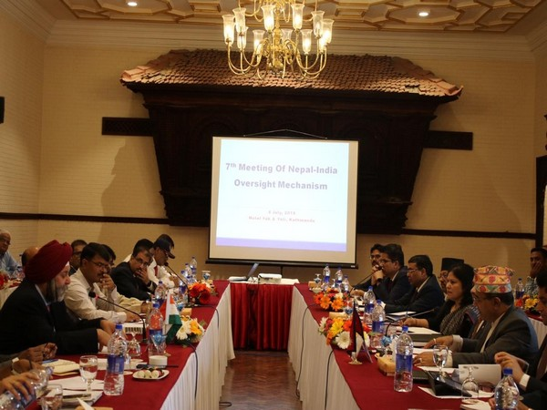 The seventh meeting of the Nepal-India Oversight Mechanism being held in Kathmandu on Monday.