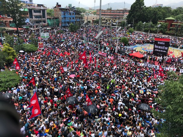 A massive protest was held in Kathmandu on Wednesday demanding scrapping of Guthi Bill.