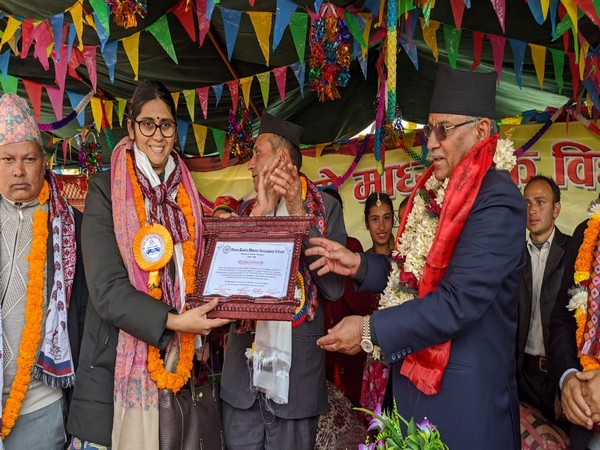 The inaugural ceremony of Aiselubhume Secondary School in Nuwakot district on Monday.
