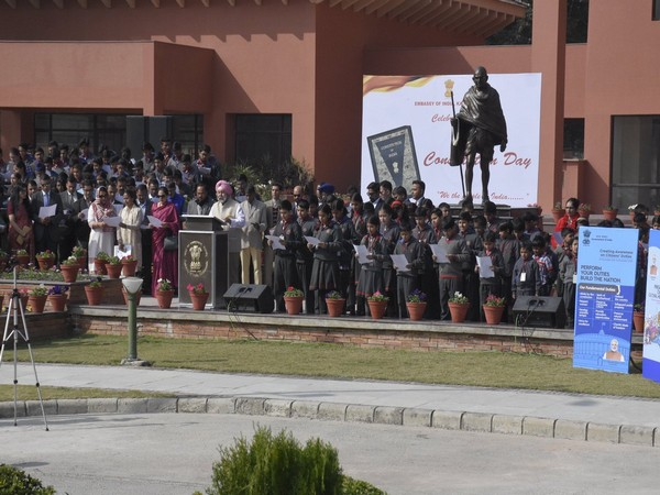 The Indian Mission in Nepal celebrates Constitution Day on Tuesday (Picture Credits: India in Nepal/Twitter)
