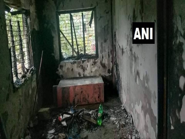 The ward office in Nepal's Nuwakot district which witnessed an explosion on Wednesday.