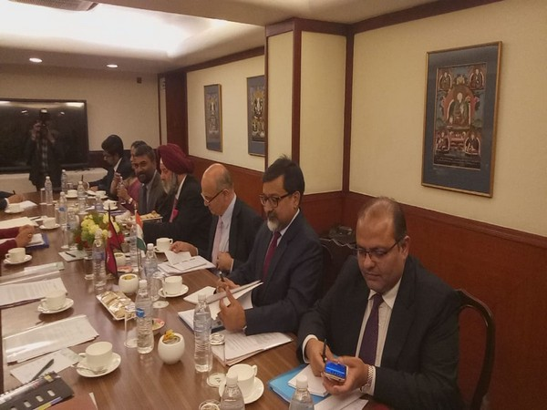 Indian Foreign Secretary Vijay Gokhale holding bilateral talks with his Nepali counterpart Shanker Das Bairagi (Courtesy: India in Nepal Twitter)