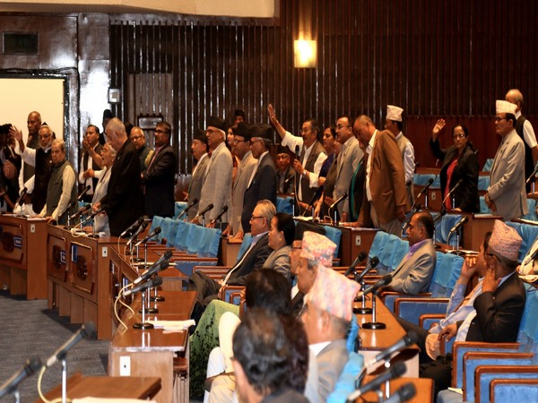 Opposition members stood up from their respective seats in protest during the House proceedings on Tuesday