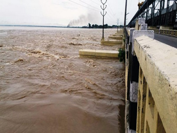 A view of Kosi barrage gates
