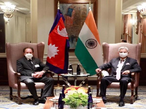 External Affairs Minister S Jaishankar met with his new Nepali colleague, Dr Narayan Khadka
