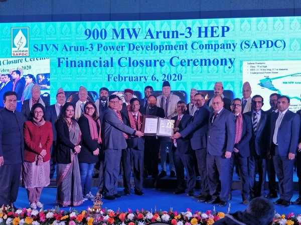 Financial closure ceremony of Nepal's largest hydropower project, the Arun-III here at Kathmandu.