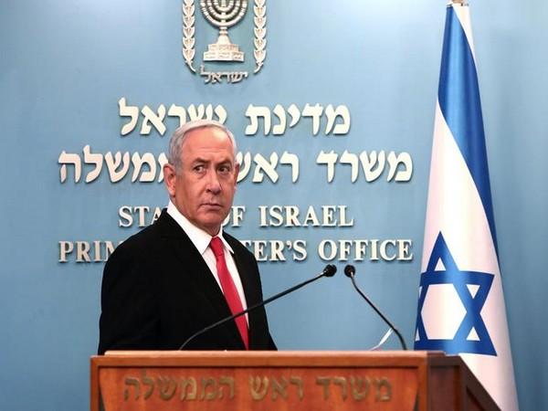 Israeli Prime Minister Benjamin Netanyahu delivers a speech at his Jerusalem office (File pic)