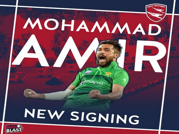 Kent Cricket sign Mohammad Amir (Photo/ Kent Cricket Twitter)