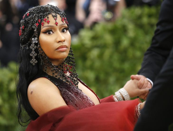Rapper Nicki Minaj arrives at the Metropolitan Museum of Art Costume Institute Gala (Met Gala)