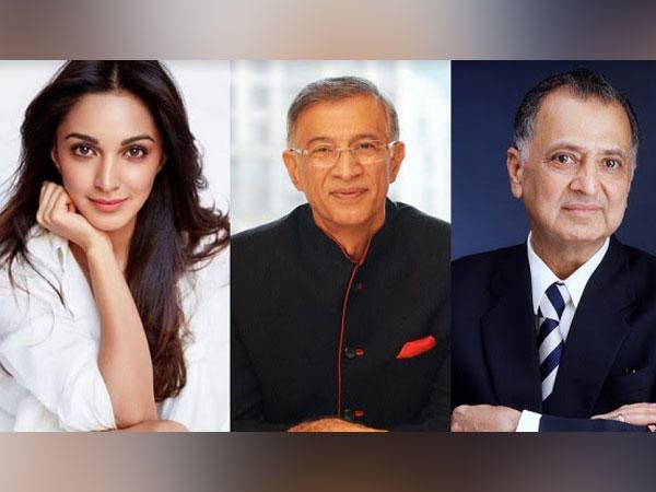 L to R: Kiara Advani, Dr. Niranjan Hiranandani, Mr. Nanik Rupani
