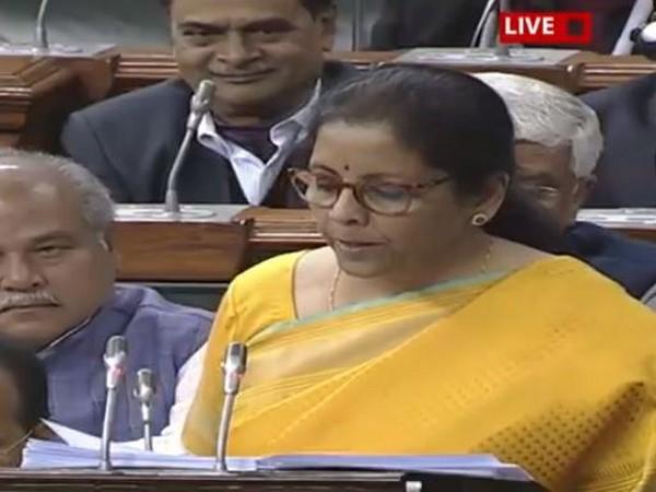 FM Nirmala Sitharaman presenting Union Budget in Parliament on Saturday [Photo: LS TV)