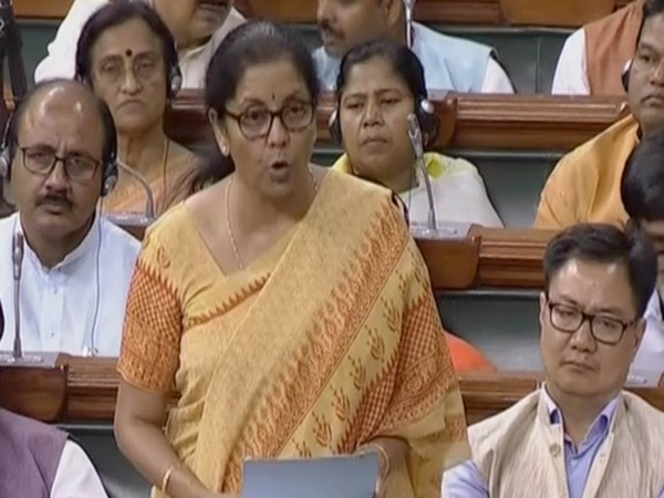 Finance and Corporate Affairs Minister Nirmala Sitharaman (Courtesy: LS TV)