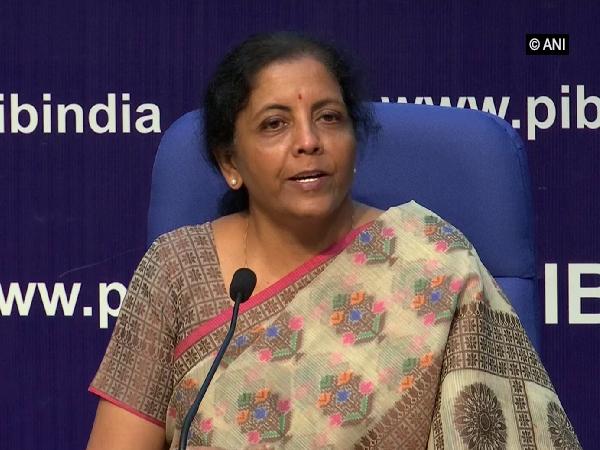 Finance Minister Nirmala Sitharaman addressing a press conference on Friday
