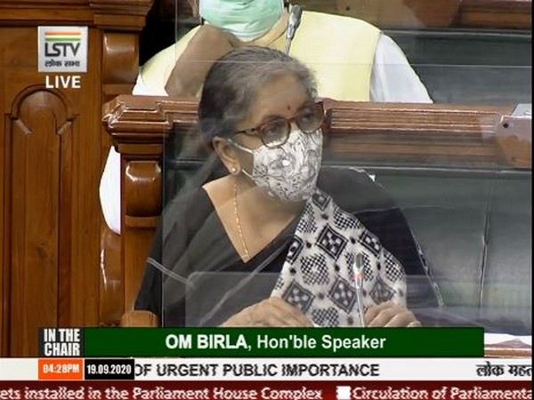 Union Finance Minister Nirmala Sitharaman speaking in Lok Sabha on Saturday. [Photo/ LS TV]