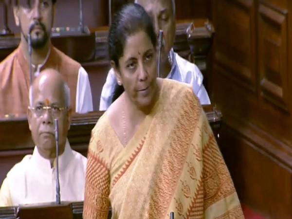 Finance and Corporate Affairs Minister Nirmala Sitharaman (Courtesy: Rajya Sabha TV)