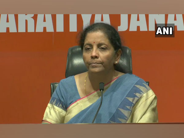 Defence Minister Nirmala Sitharaman addressing media persons in New Delhi on Monday. Photo/ANI