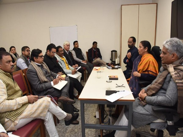 Union Finance Minister Nirmala Sitharaman meets BJP office bearers, spokespersons