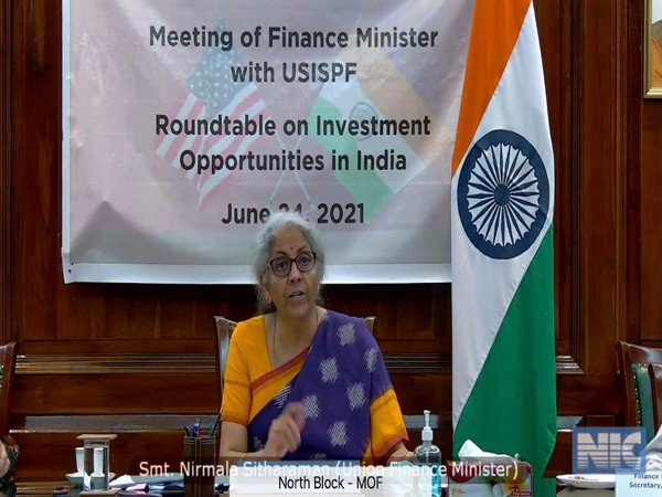 Visual of the meeting chaired by Union Finance Minister Nirmala Sitharaman (Photo/ANI)