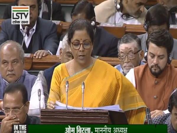 Union Finance Minister Nirmala Sitharaman presenting Union Budget 2020-2021 in Lok Sabha.