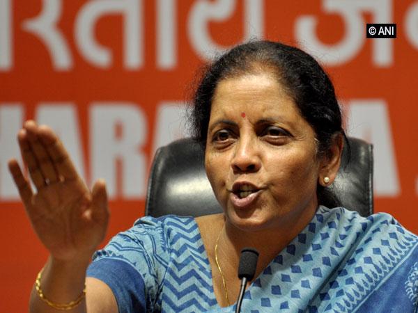 Defence Minister Nirmala Sitharaman addressing a presser in New Delhi on Monday. Photo/ANI