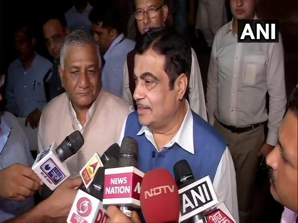 Union Road Transport Minister Nitin Gadkari speaking to reporters in New Delhi on Wednesday. Photo/ANI