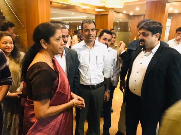 Nitin Gupta with Finance Minister Nirmala Sitaraman