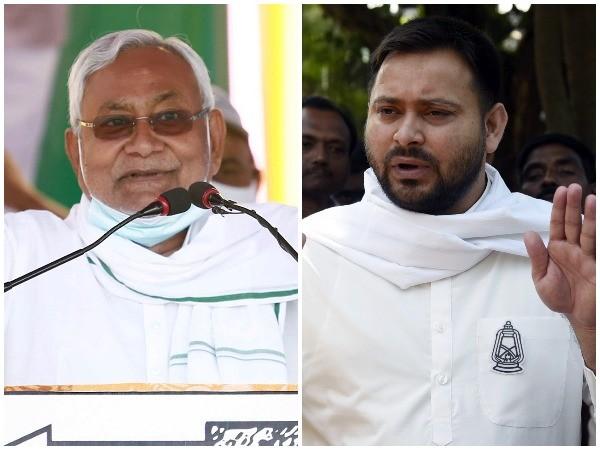 Nitish Kumar and Tejashwi Yadav (File photo)