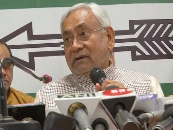 Bihar Chief Minister Nitish Kumar while addressing media persons in Patna, Bihar on Thursday. Photo/ANI