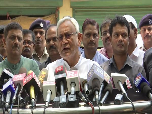Chief Minister Narendra Modi speaking to reporters in New Delhi.