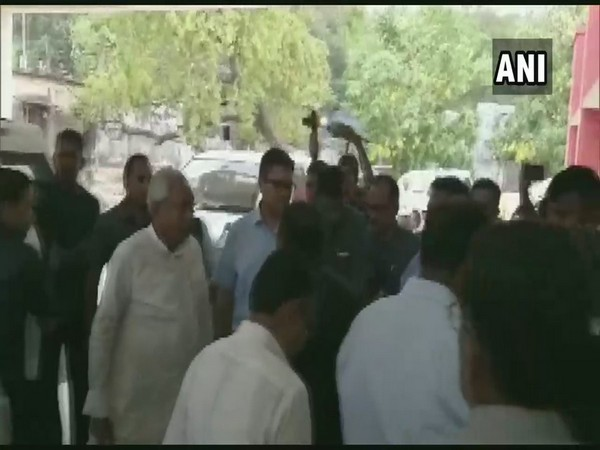 Bihar Chief Minister Nitish Kumar at Anugrah Narayan Magadh Medical College, Gaya, on Thursday. Photo/ANI
