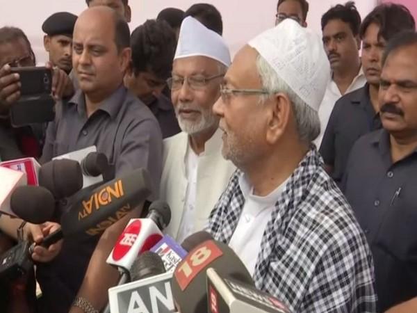 Bihar Chief Minister Nitish Kumar while speaking to ANI in Ptana, Bihar on Wednesday. Photo/ANI
