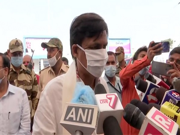 Union Minister Nityanand Rai speaking to reporters in Patna on Friday. Photo/ANI