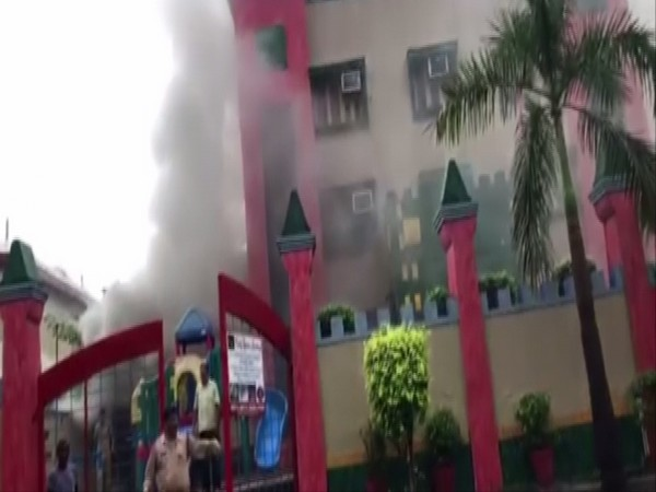 Visual from Mother's Pride playschool in Noida on Monday. Photo/ANI