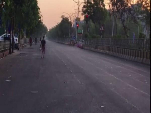 A visual of Noida on Sunday morning. (Photo/ANI)