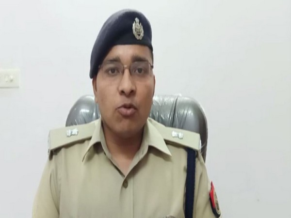 Noida Superintendent of Police Vineet Jaiswal sharing details of the incident. (ANI/Photo)