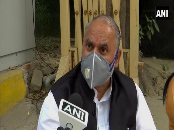 North Delhi Mayor Jai Prakash talking to ANI on Monday.