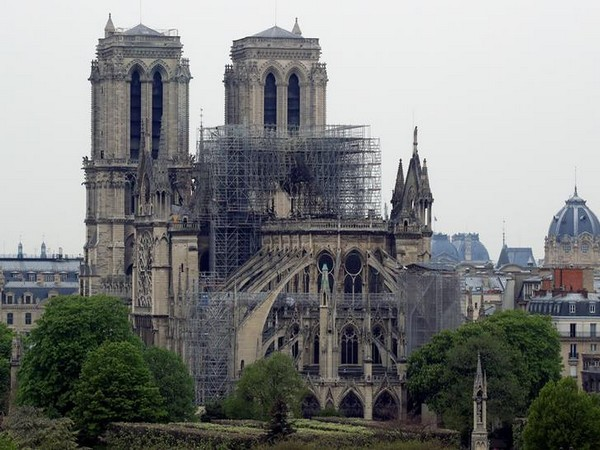 Visuals of the Notre Dame Cathedral in Paris after the blaze