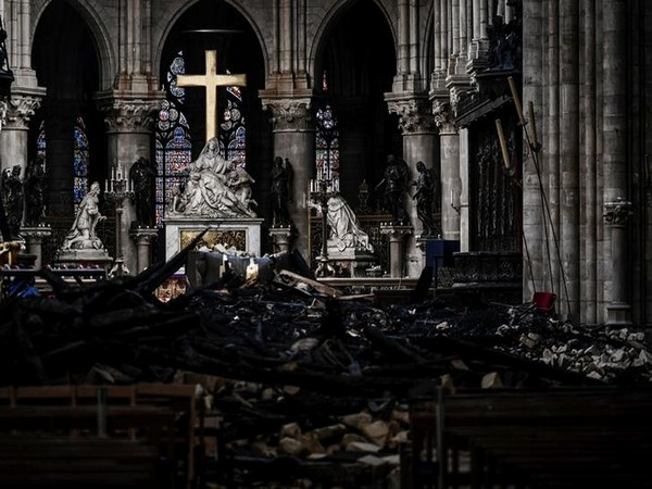 Damages caused by fire in Paris' Notre Dame Cathedral in April