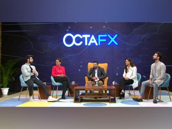 Left to Right: Television Host Karan Wahi, Television actress Nia Sharma, Forex expert Zia ul Haque, Television actress Krystle D'Souza and YouTube blogger Mohit Chhikara