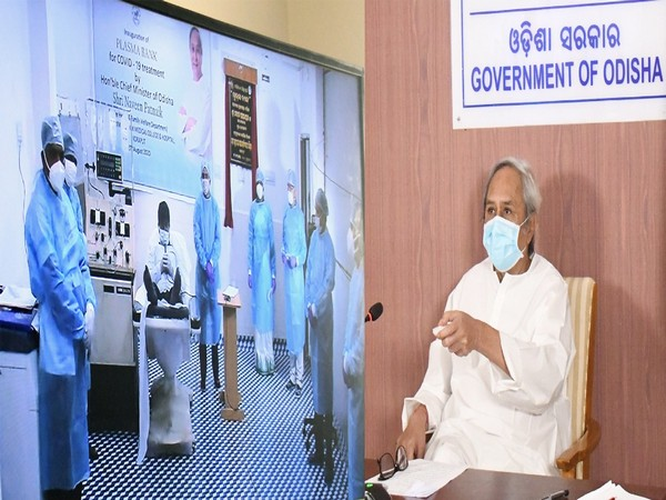 Odisha Chief Minister Naveen Patnaik inaugurating plasma bank virtually. (Picture credit: Odisha CMO)