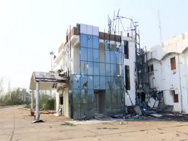 Odisha Engineering College was damaged by cyclone Fani. Photo/ANI