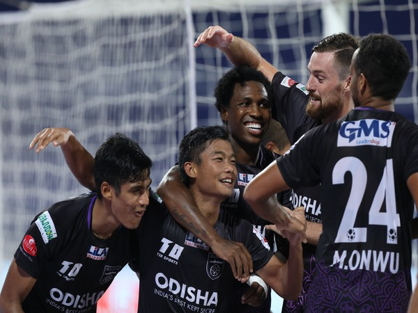 Odisha players celebrate after scoring goal against East Bengal (Photo/ Sportzpics)
