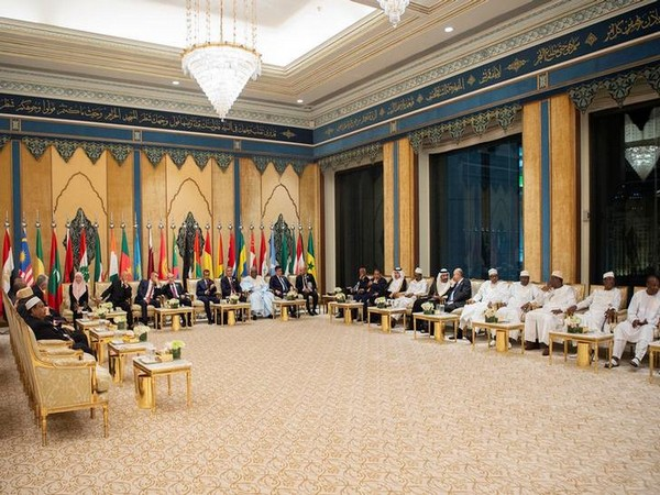 Leaders at a meeting during the14th Islamic summit of the Organisation of Islamic Cooperation (OIC) in Mecca, in June, 2019